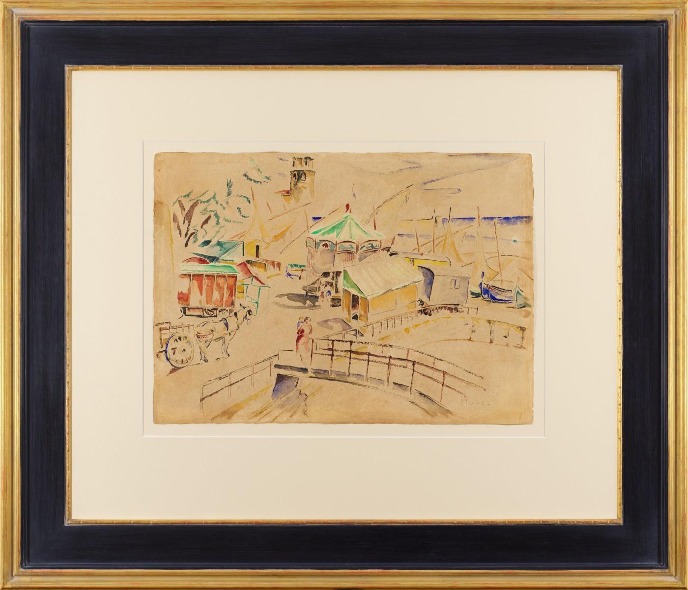 Cyrk w porcie Collioure