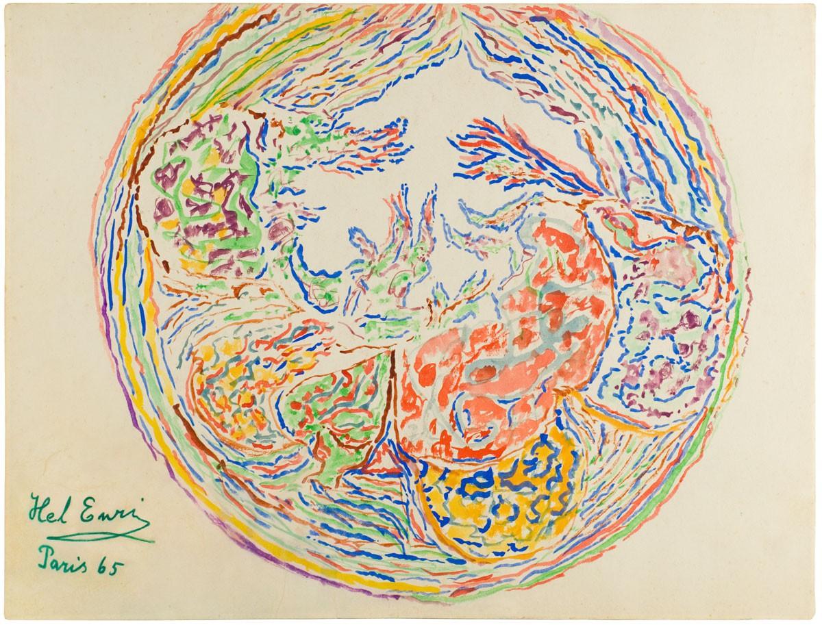 Kompozycja abstrakcyjna w owalu